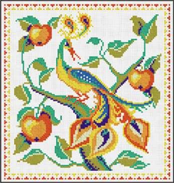 Вышивка крестиком жар птица
